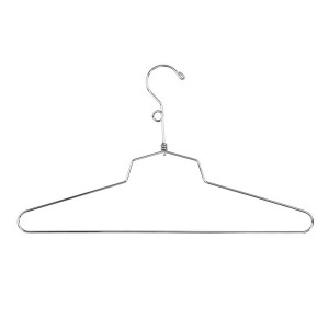 "Dress Hanger 16"" Chrome Metal"