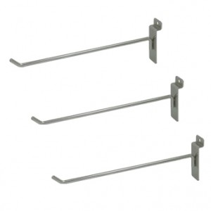 "Slat Hook Chrome 10"" 1"