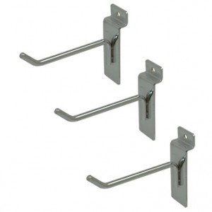 "Slat Hook Chrome 4"" 96 1"