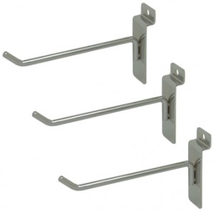 "Slat Hook Chrome 6"" 96 1"