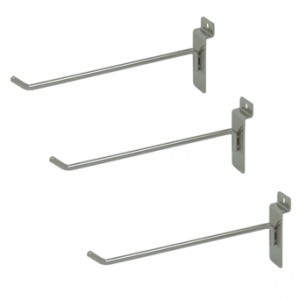 Slat Hook Chrome 8""