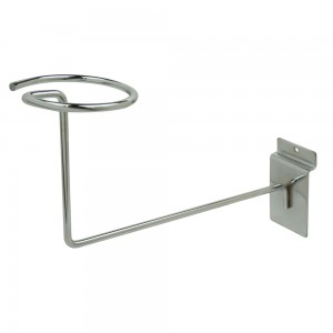 Slatwall Hat Bracket  CHrome