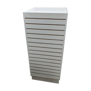 Slatwall Cube Tower White 24x24x54