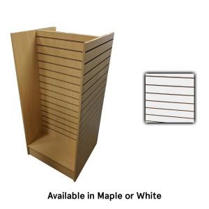 Slatwall 4-Way White 24x24x54