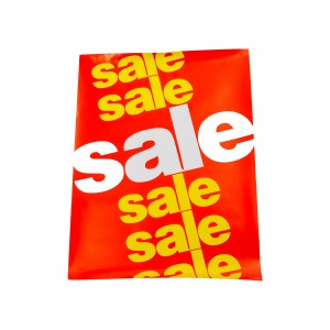 """Sale"" Indoor Poster Red Background With Yellow Lettering Paper"