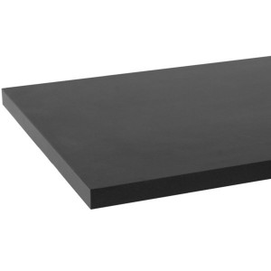 "Wood Shelfs Black Melamine 102"" x 46"""