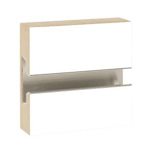 MDF Slatwall Panel 4' x 8' White Finish With Aluminum Insert