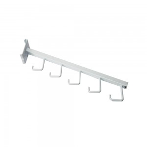 Gridwall 5 Hook Waterfall White Metal