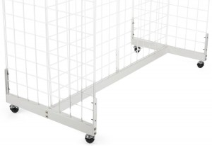 Gridwall Gondola Base White 1