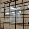 "7"" x 5.5"" Clear Acrylic Slatwall Gridwall Sign H 3"