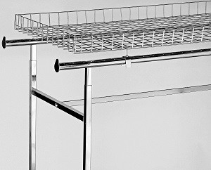 Rectangular Basket Top For Clothing Rack 2