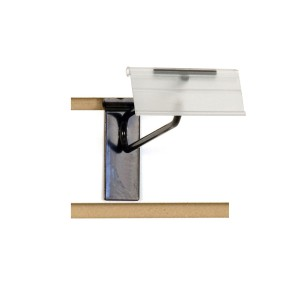"Slatwall Scanner Hook 8"" Label Holder Combo Black"