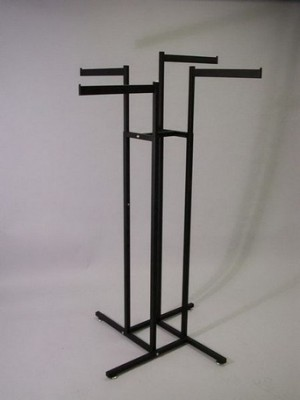 Garment Rack 4 Arm Straight Black 2