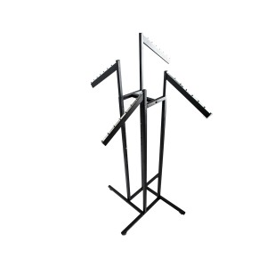 Slanted Tube Rack Black 4 Arm