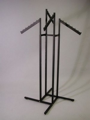 Slanted Tube Rack Black 4 Arm 2