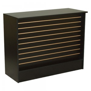 Black Slatwall Checkout Stand