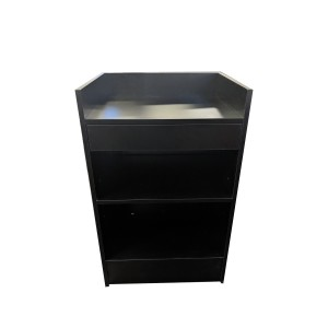 "Register Stand 24"" L x 20"" W x 38"" H Gloss Black"