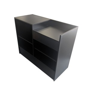 "Checkout Register Stand 48"" L x 20"" W x 38"" H Gloss Black"