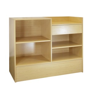 "Checkout Register Stand 48"" L x 20"" W x 38"" H Maple"
