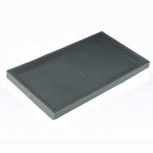 "1"" Stackable Black Plastic Tray 2"