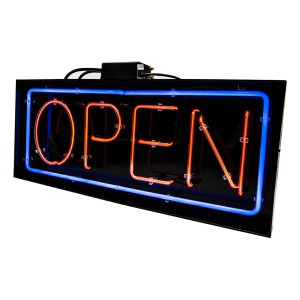 Horizontal Neon Open Sign