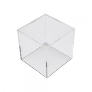 """Acrylic 5 Sided Cube 4"""" W x 4"""" D x 4""""H"""