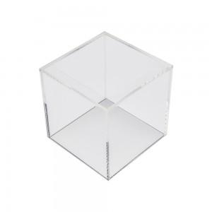 """Acrylic 5 Sided Cube 10"""" W x 10"""" D x 10""""H"""