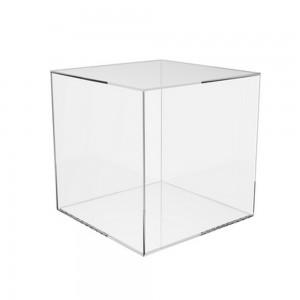 "Acrylic 5 Sided Cube  10"" x 10"" x 10"""