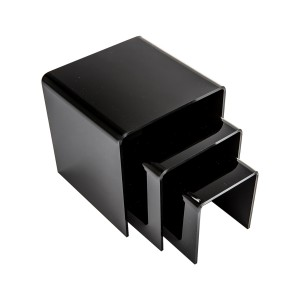 3 Acrylic Black Risers Set
