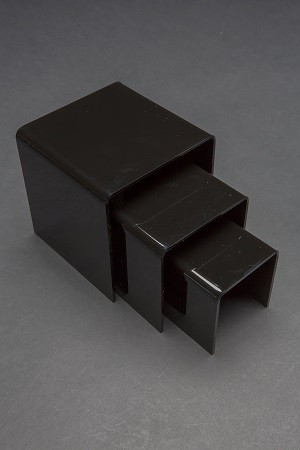 3 Acrylic Black Risers Set 2