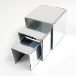3 Acrylic Mirrored Riser Set 2
