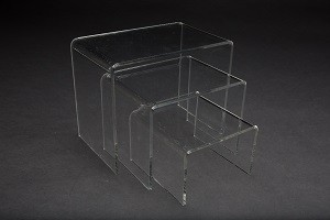 Clear Acrylic Riser Set of 3 Sets