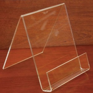 "Acrylic Easel  3 1/2"" W x 1"" D x 4"" H With Lip 4"" Clear: 1060"