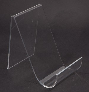 "Clear Acrylic Easel With Lip 5 1/2"" 2"