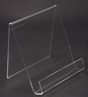 "Clear Acrylic Easel With Lip 6"" 2"