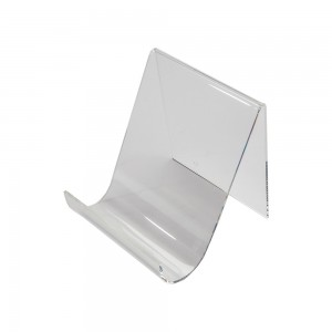 Wide Clear Acrylic Easel With Lip 6""