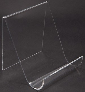 "Wide Clear Acrylic Easel With Lip 6"" 2"