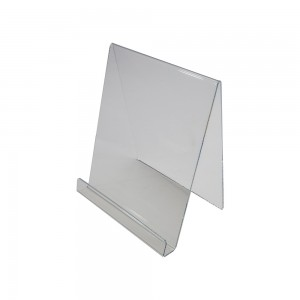 "Clear Acrylic Book Easel 8"" h"