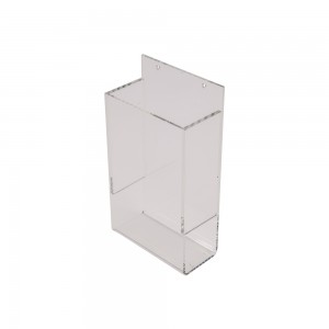 Wall Mount Acrylic Single Pocket Brochure Holder With Gap 8 1/4""