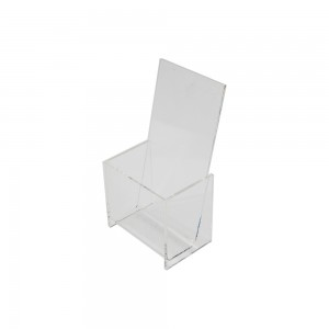 Counter Top Acrylic Single Pocket Brochure Holder 8 1/4""