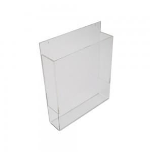 "Wall Mounted Acrylic Brochure Holder 8 1/2"" W x 11""H"