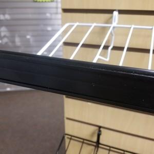 """Double Wire Shelf """"C"""" Channel Strip Black"""