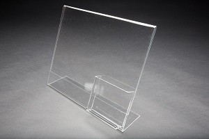 "Acrylic Slanted Sign Holder with 4"" Pocket 2"