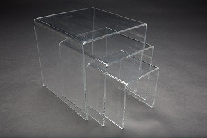"Acrylic Risers 6""x 8"" x 10"" Set of 3  2"