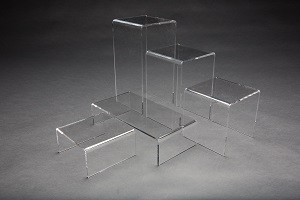 Clear Acrylic 5 Piece Riser Set 2