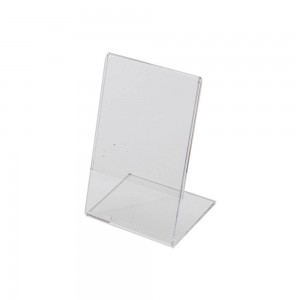 "5.5"" w x 3.5"" h Clear Acrylic Slantback Countertop Sign Holder"