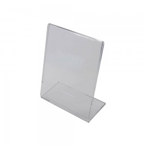 "5.5""w x 7""h Clear Acrylic Slantback Countertop Sign Holder"