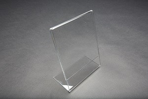 "Acrylic Slantback Countertop Sign Holder 5.5"" W x 7"" H Clear: 1109 2"
