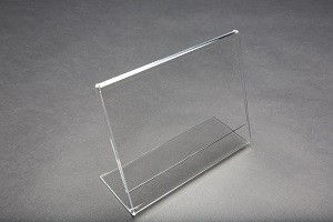 "7""w x 5.5""h Clear Acrylic Slantback Countertop Sign Holder 3"
