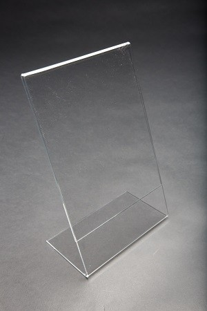 Acrylic Slantback Countertop Sign Holder Clear 7